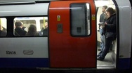 Stock Video Footage of London Underground train leaving