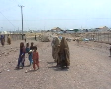 Women in Burqa Walking 2 Stock Footage
