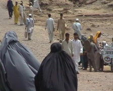 Afghan  and Pakistani Women in Burqa  Stock Footage