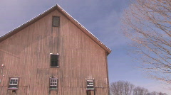 Old Barn: Winter in Vermont - stock footage
