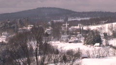 Small New England Village in Winter - stock footage