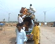 Van carrying Aid for Refugees in Swat, Pakistan SD Footage