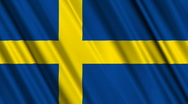 Sweden Flag Loop 01 Stock Footage