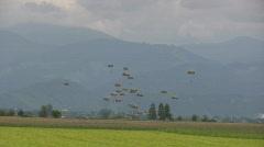 Parachutes - nat sound - 2/2 - stock footage