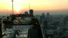 Rooftop Restaurant, T/Lapse, Bangkok Thailand, Asia Stock Footage