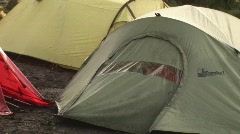 Opening tent Stock Footage