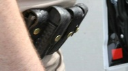 Stock Video Footage of Police Gun Belt
