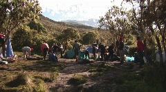 Machame camp view kilimanjaro Stock Footage