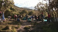 Stock Video Footage of machame camp view kilimanjaro