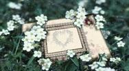 6001L Wedding Bridal Scrapbook Page Open Luma Key  Stock Footage