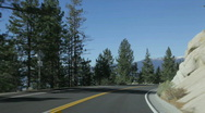 Lake Tahoe east shore road 1 Stock Footage