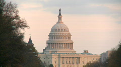 Stock Video Footage of US Capitol sunset HD