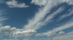 Feathery Clouds Time Lapse - stock footage