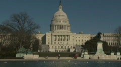 U.S. Capital (backside) Stock Footage