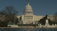 Stock Video Footage of U.S. Capital (backside)