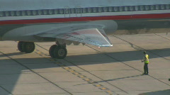 MD 82 being pushed back CR - stock footage