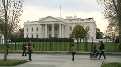 White House in Washington DC Stock Footage