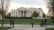 White House in Washington DC Stock Footage