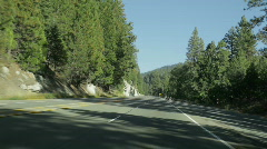 California Sierra mountains highway Stock Footage