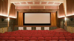Cinema auditorium with people 30p - stock footage