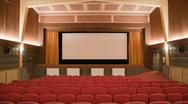 Cinema auditorium with people 30p Stock Footage