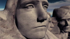 Mount Rushmore Extreme Close Up Stock Footage