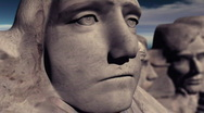 Stock Video Footage of Mount Rushmore Extreme Close Up