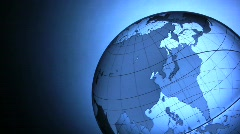 Spinning Globe Stock Footage
