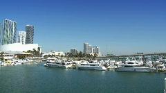 Bayside Marina in Miami - stock footage