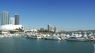 Stock Video Footage of Bayside Marina in Miami