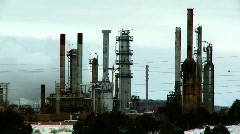 Oil Refinery Pollution - stock footage