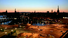 evening stockholm - stock footage