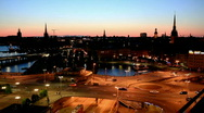 Stock Video Footage of evening stockholm
