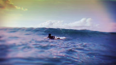 Surfinf the wave blue Stock Footage