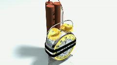Alarm Bomb Explodes Stock Footage