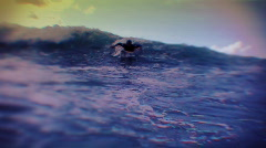 Surfing slow motion blue Stock Footage
