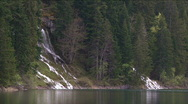 Waterfall in the mountain Stock Footage