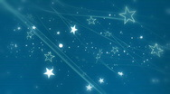 Stars and Wisps in Light Blue Looping Background Stock Footage