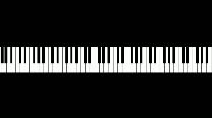 Stock Video Footage of Piano or Keyboard Keys Element Loop