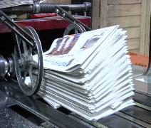 Newspaper press 5 Stock Footage