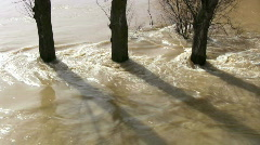 Overflowing river after heavy rain Stock Footage