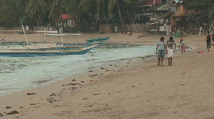 People in Philippines village - stock footage