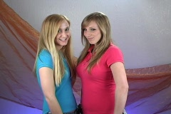 Two Beautiful Teenage Blondes (1) Stock Footage