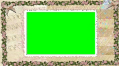 6013C Wedding Keyable Picture Frame Music Sparkles  Stock Footage