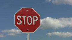Stop sign. Mellow timelapse. - stock footage