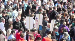 Protest Rally University Campus Stock Footage