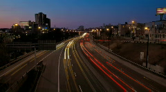 Stock Video Footage of Timelapse Higway Day to Night