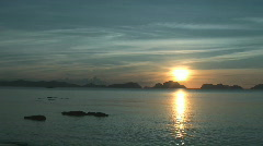 Sunset in El Nido Stock Footage