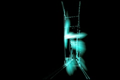 Stock Video Footage of futuristic corridor walkthrough NTSC by in