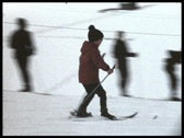 Stock Video Footage of Boy skiing (vintage 8 mm amateur film)